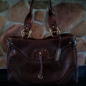 Kenneth Cole tote, brown, leather, new with tags.